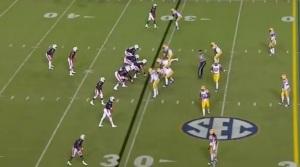 Defense still getting into position