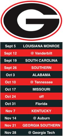 UGA Schedule